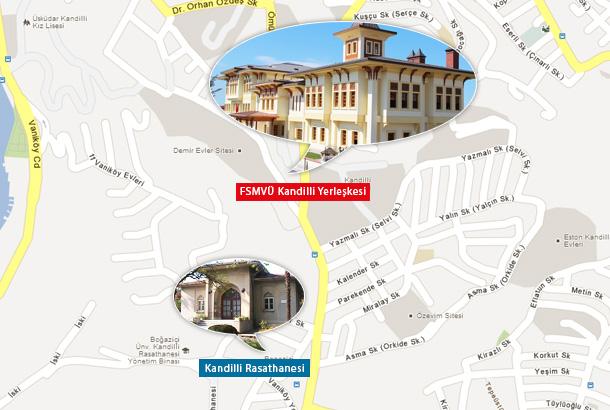 FSMVÜ Kandilli Yerleşkesi Harita